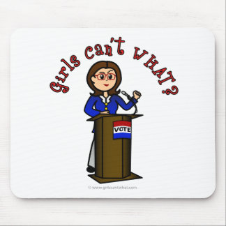 Light Politician Girl Mouse Pad