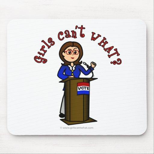 Light Politician Girl Mousepads