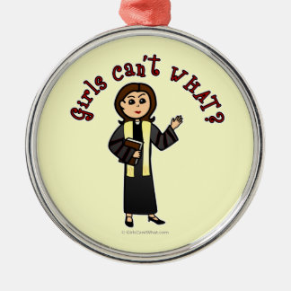 Light Preacher Girl Christmas Ornament