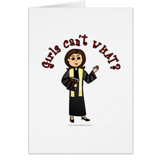 Light Preacher Girl Greeting Card