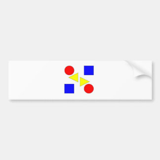 Light Primary Bumper Sticker