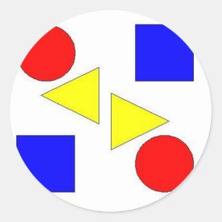 Light Primary Round Sticker