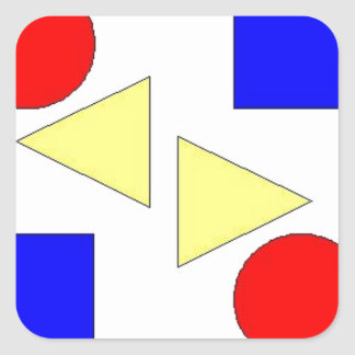 Light Primary Square Sticker