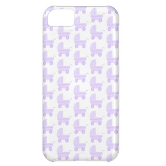 Light Purple and White Baby Stroller Pattern. iPhone 5C Case