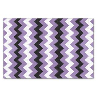 Light Purple, Black White Chevron Tissue Paper
