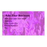 Light Purple Camouflage Business Card Template
