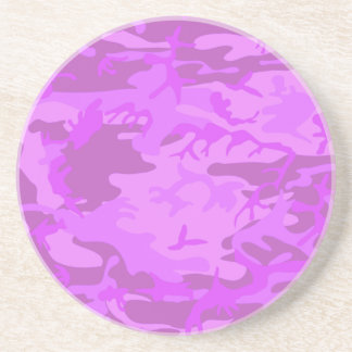 Light Purple Camouflage Drink Coaster