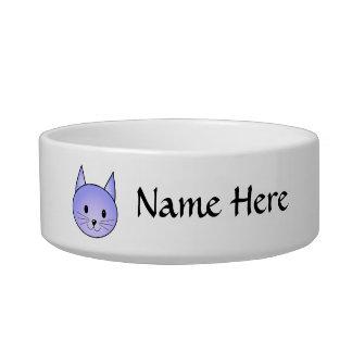 Light purple cat. bowl