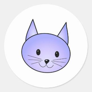 Light purple cat. classic round sticker