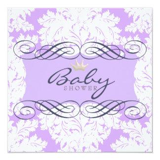 Light Purple Damask Darling Purple Frame Card