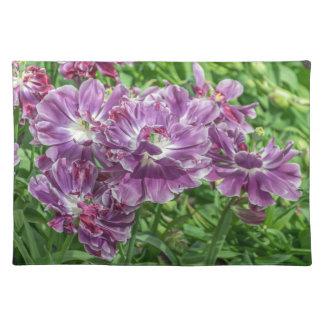 Light purple flowers placemat