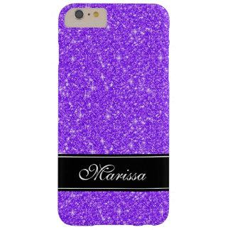 Light Purple Glitter Black Trim iPhone 6 Plus Case
