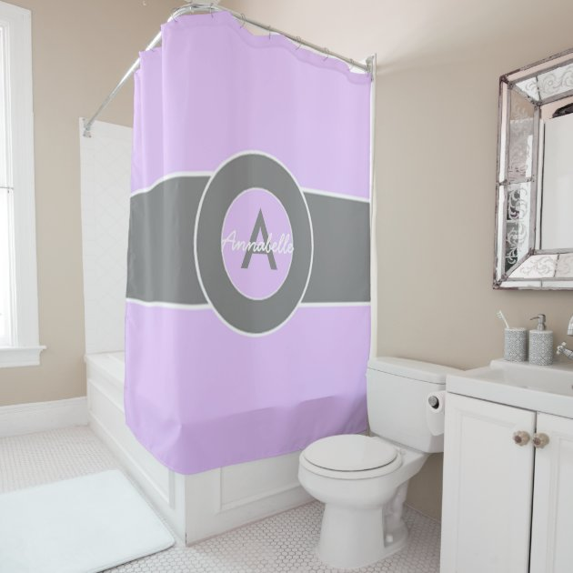 Light Purple Grey Shower Curtain Zazzle Co Uk