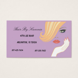 Light Purple Hair, Nail, Make-up Business Card