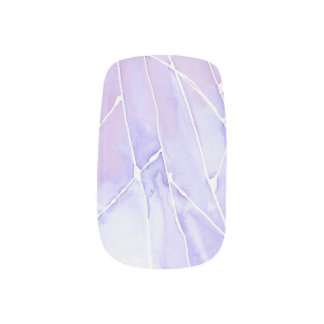 Light Purple Marble Break Minx Nail Art
