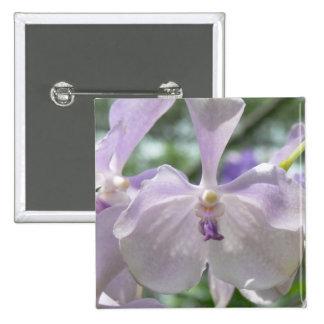 Light Purple Orchid Photo Button 2 Inch Square Button