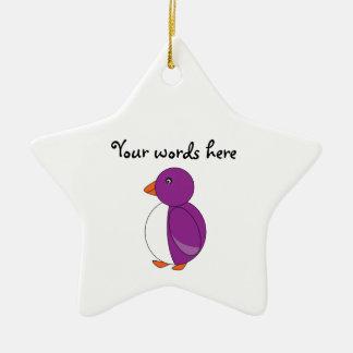 Light purple penguin christmas ornament