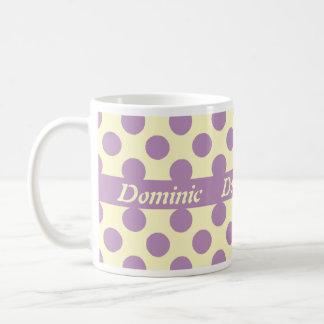 Light Purple Polka Dots Personalized Mugs