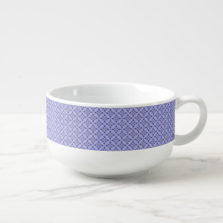 Light Purple Retro Geometrical Pattern Soup Mug