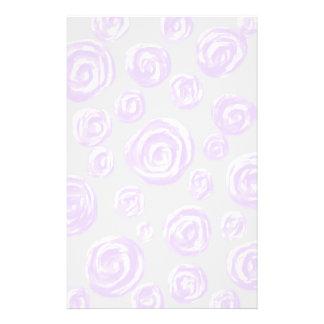 Light purple rose pattern on pale grey. flyers