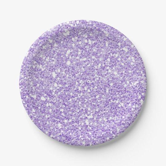Light Purple Sparkle Glitter Glam Custom Party Paper