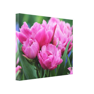 Light Purple Spring Tulips Canvas Wall Art