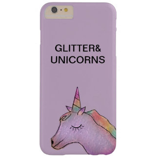 Light purple unicorn+glitter iphone 6 case