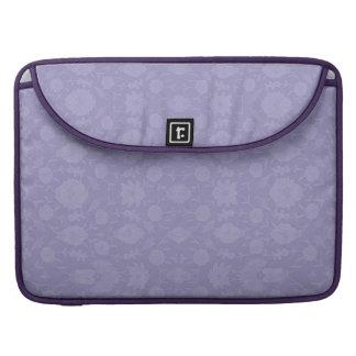 Light Purple Vintage Floral Sleeves For MacBooks
