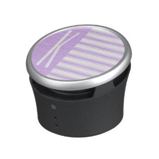 Light Purple & White Horizontal Stripes Speaker
