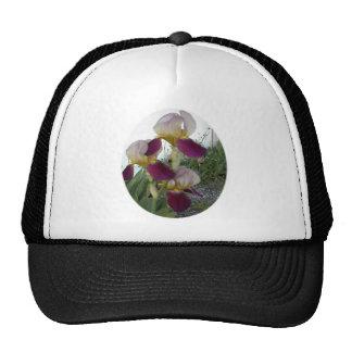 Light purple with pink irises trucker hat