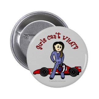 Light Race Car Driver Girl 6 Cm Round Badge