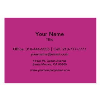 Light Raspberry Solid Color Pack Of Chubby Business Cards