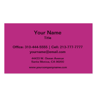 Light Raspberry Solid Color Pack Of Standard Business Cards