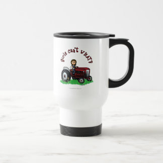 Light Red Farmer Girl Travel Mug