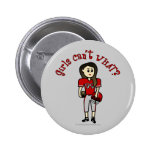 Light Red Football Pinback Buttons