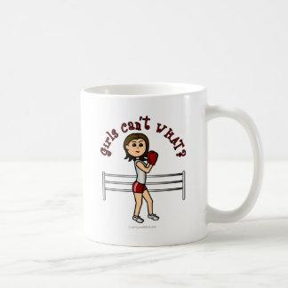 Light Red Girl Boxer Coffee Mug