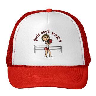 Light Red Girl Boxer Hats