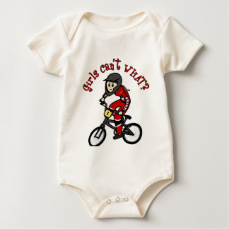 Light Red Girls BMX Baby Bodysuit