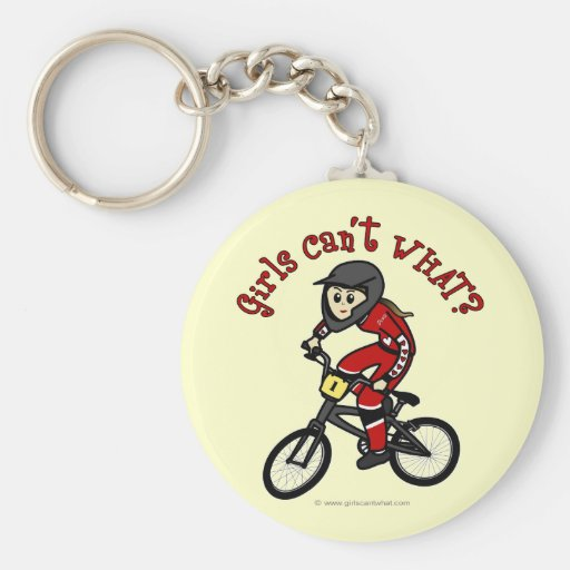 Light Red Girls BMX Key Chain
