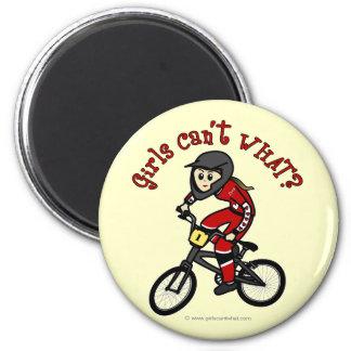 Light Red Girls BMX Magnets
