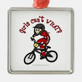 Light Red Girls BMX Ornament