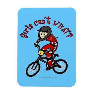 Light Red Girls BMX Vinyl Magnet