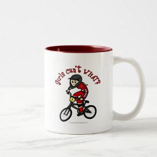 LIght Red Girls BMX Two-Tone Mug