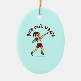 Light Red Shot Put Christmas Ornament
