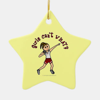 Light Red Shot Put Christmas Ornaments