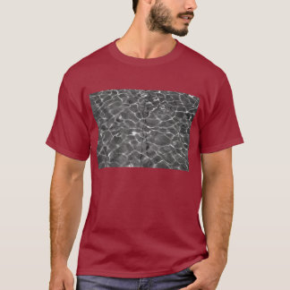 Light Reflections On Water: Black & White T-Shirt