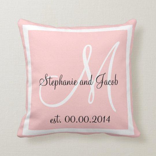 Light Rose Pink Wedding keepsake pillow