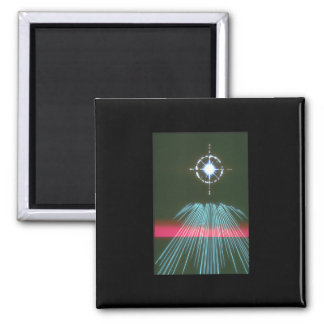 Light rushing Star. (light;star_Space Scenes Square Magnet