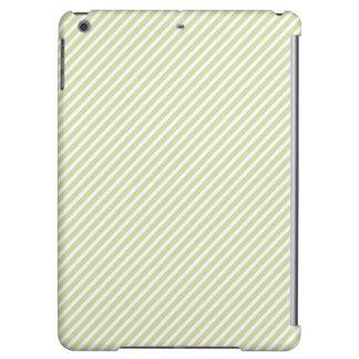 Light Sage Green Diagonal Stripes