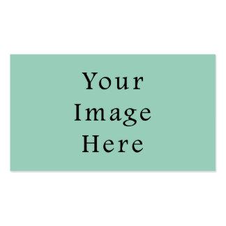 Light Seafoam Green Sea Foam Color Trend Template Pack Of Standard Business Cards
